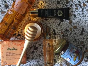 nature morte de produits au miel