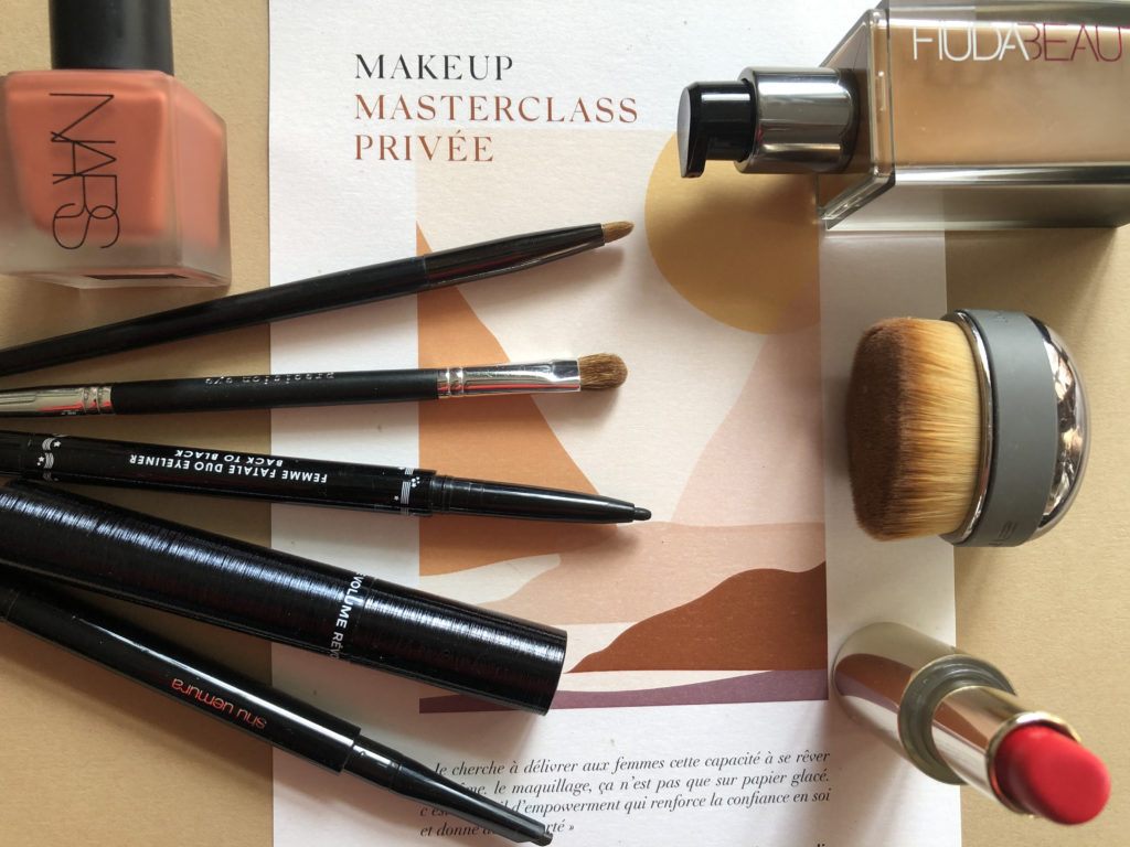master class, maquillage, leçon privée